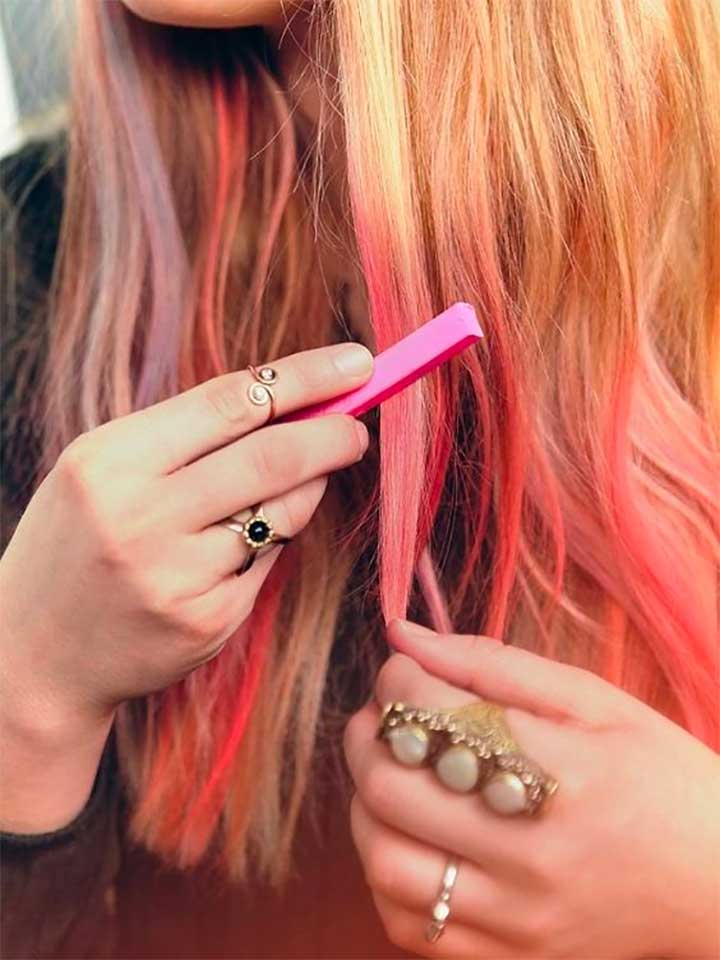 Hair Chalk Ideas Photo Hacks