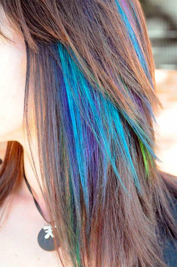 Hair Chalks on Dark Hair