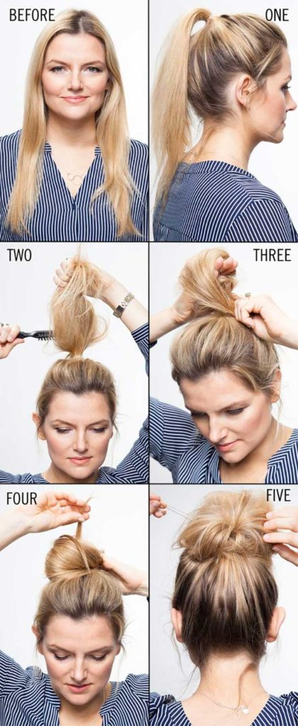 Hair how-to styling a topknot