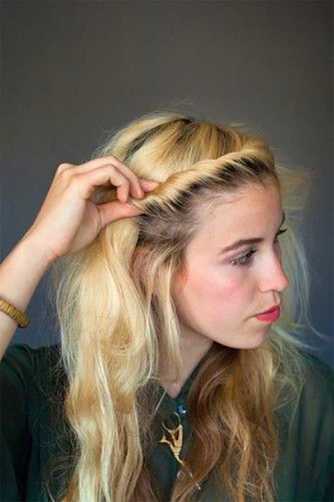 A Hairline Braid/Twist