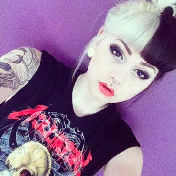 Half White And Black Hair