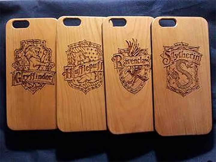 Harry Potter Walnut Wood iPhone Case