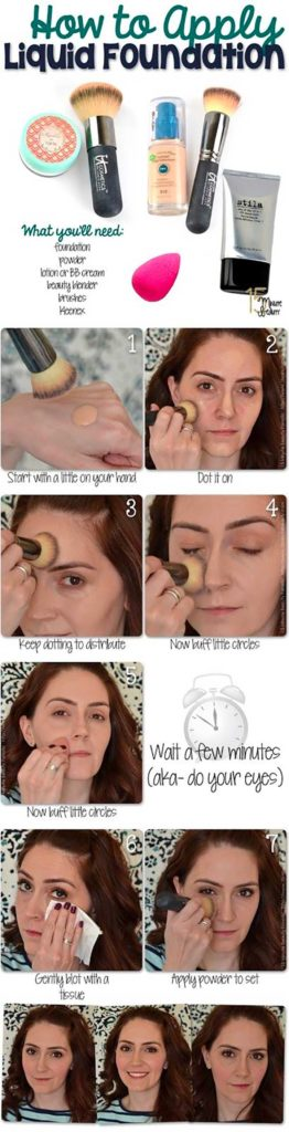 How To Apply Liquid Foundation