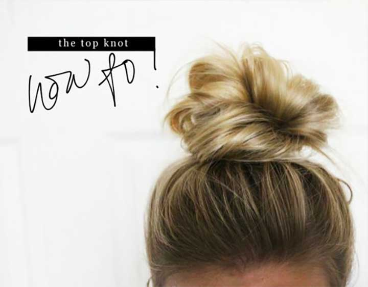 How To Top Knot - Casual top knot