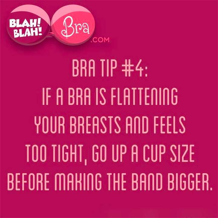 How to deal with a flattening bra