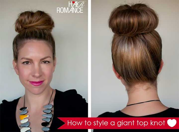 How to style a giant top knot