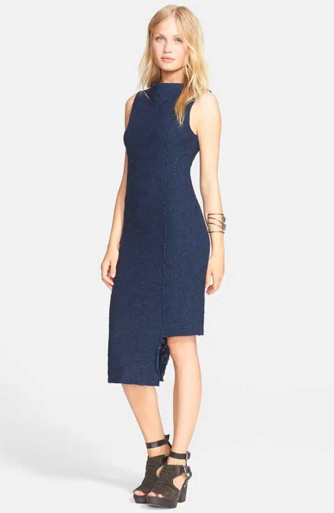 Jacquard Knit Midi Dress