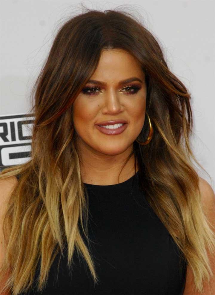 Mascara: Khloe-Kardashian-ombre-hair