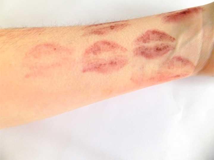 Lipstick Test Arm Tarte