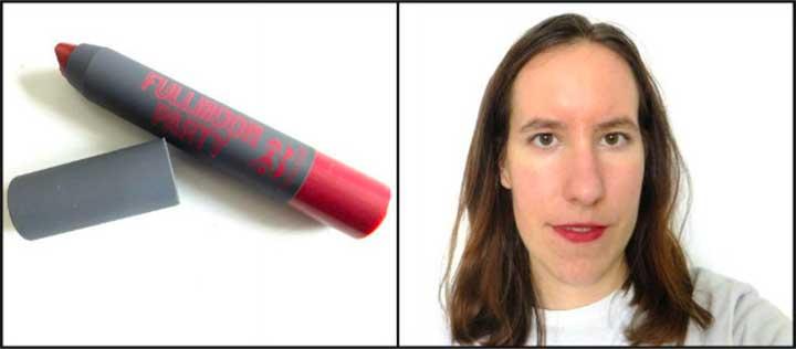 Full Moon Party Lipstick in Burgundy: Lipstick Test Chosungah 22