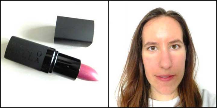 FlowerColor Lipstick in Sangria: Lipstick Test Ecco Bella