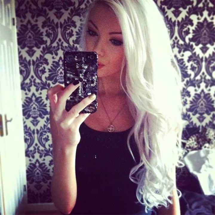 Long White Blonde Hair