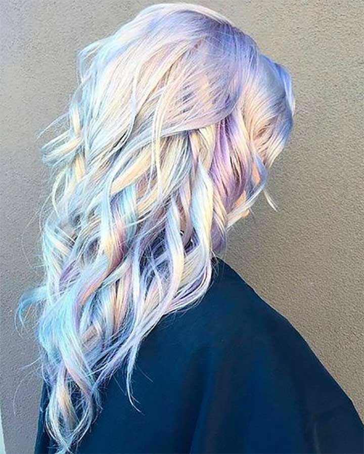Metallic Opal Hair Color