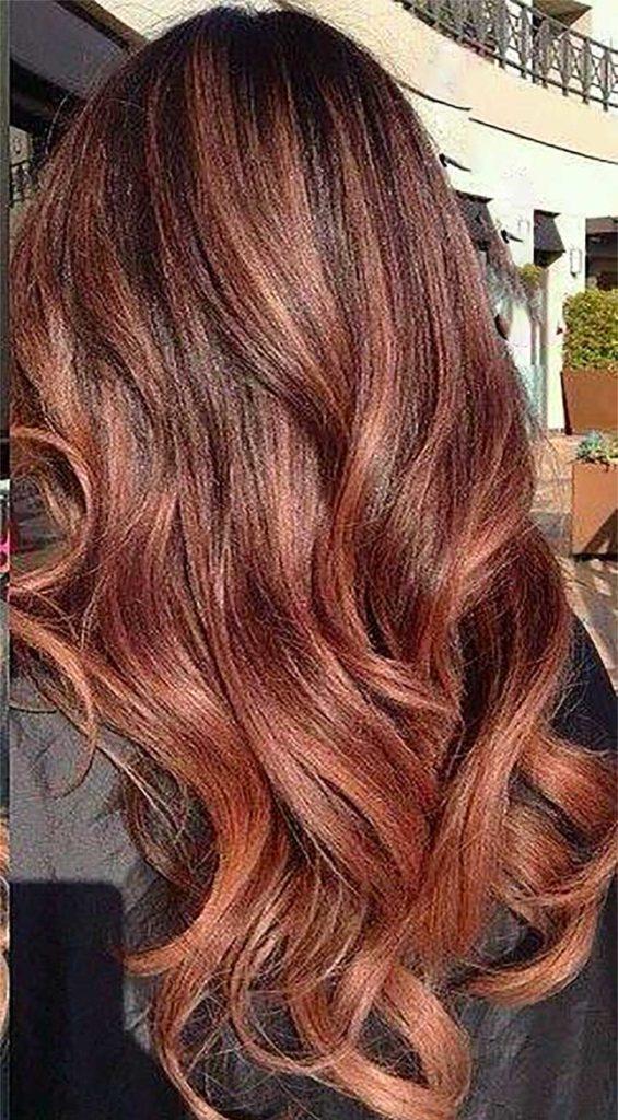 Metallic Rose Gold Hair Color