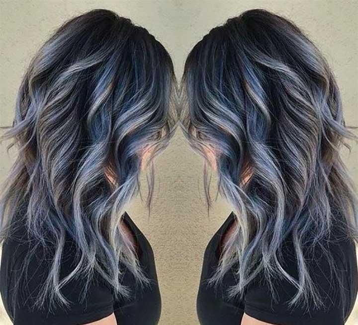 Metallic Soft Blue hair dye