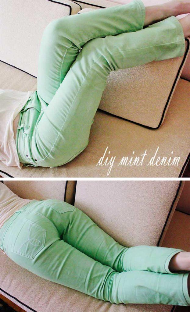 Mint Green Denim Tutorial