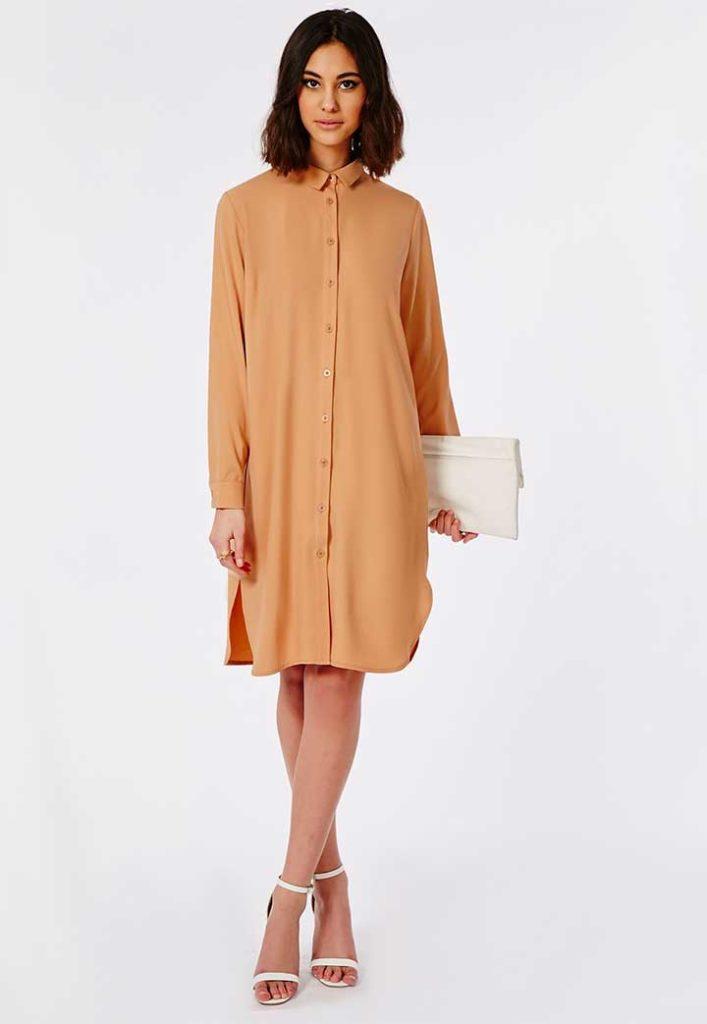 Misguided floaty midi shirt dress