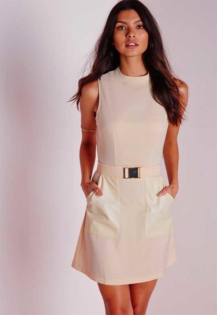 Missguided Buckle Belt Shift Dress