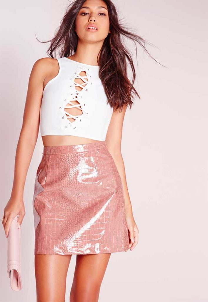 Missguided Lace UP Cro Top