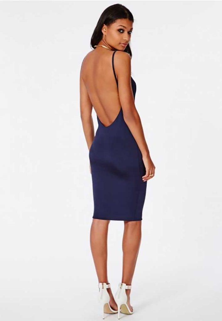 Missguided Slinky Low Back Strappy Midi Dress