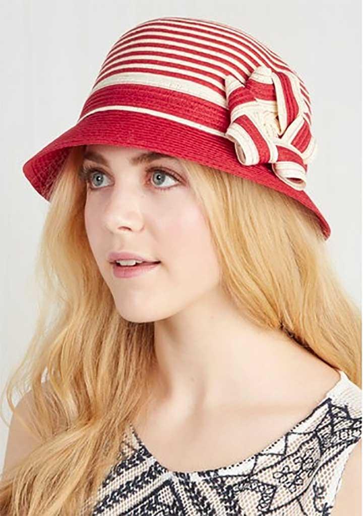 ModCloth Striped Cloche hat