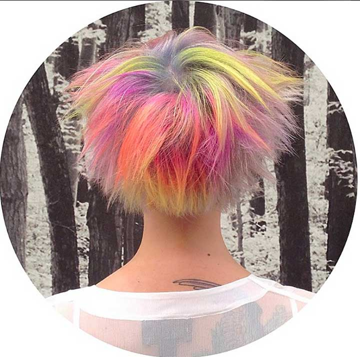 Expressive Neon Opal Hair Color For Every Occasion