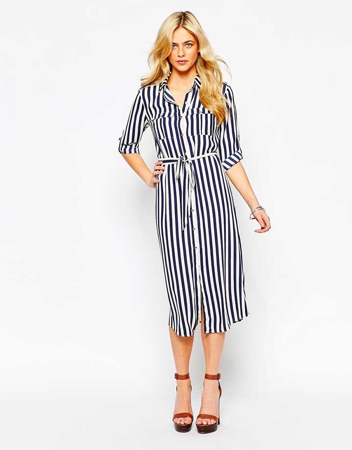 Oasis striped shirt dress