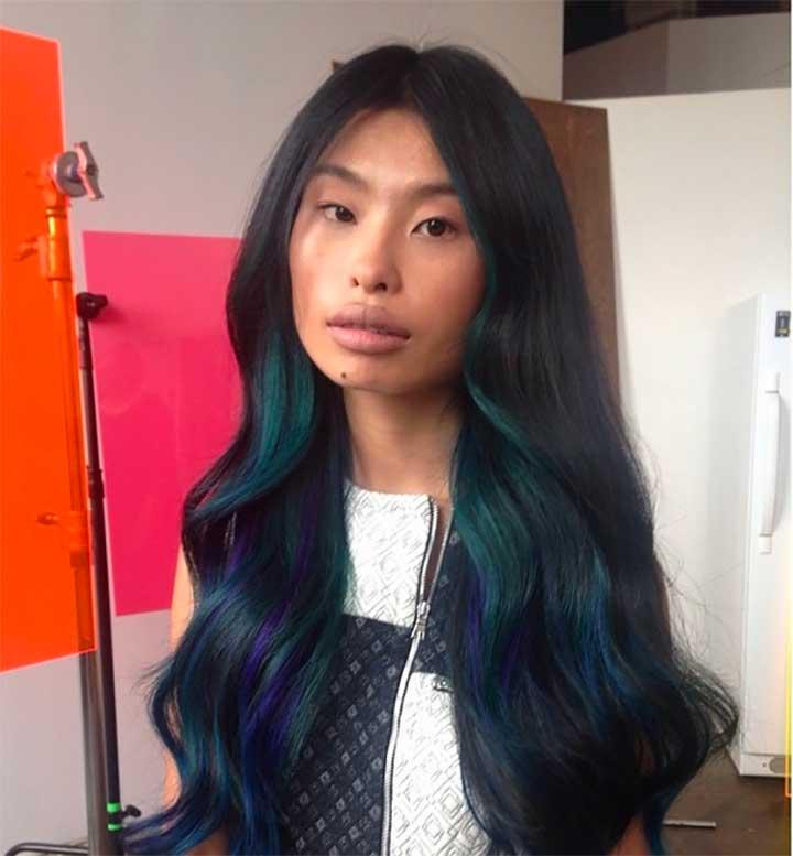 Oil Slick Hair, The Rainbow Hair Dye Technique For Brunettes