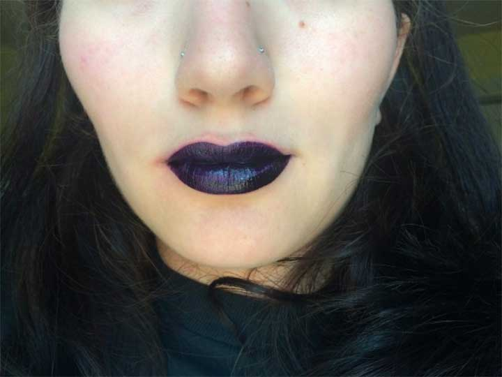 OCC Lip Tar Unknown Pleasures review - Pagan swatch