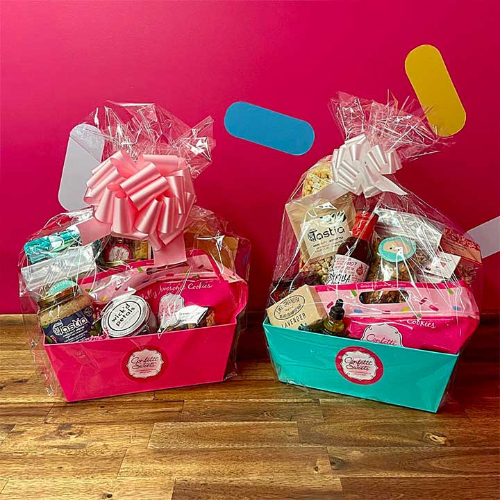 A personalized retirement gift basket