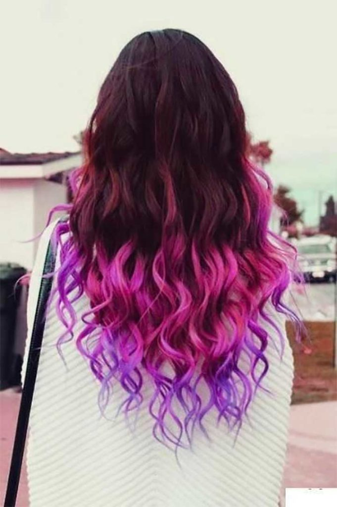 Pink And Purple Hair Ends