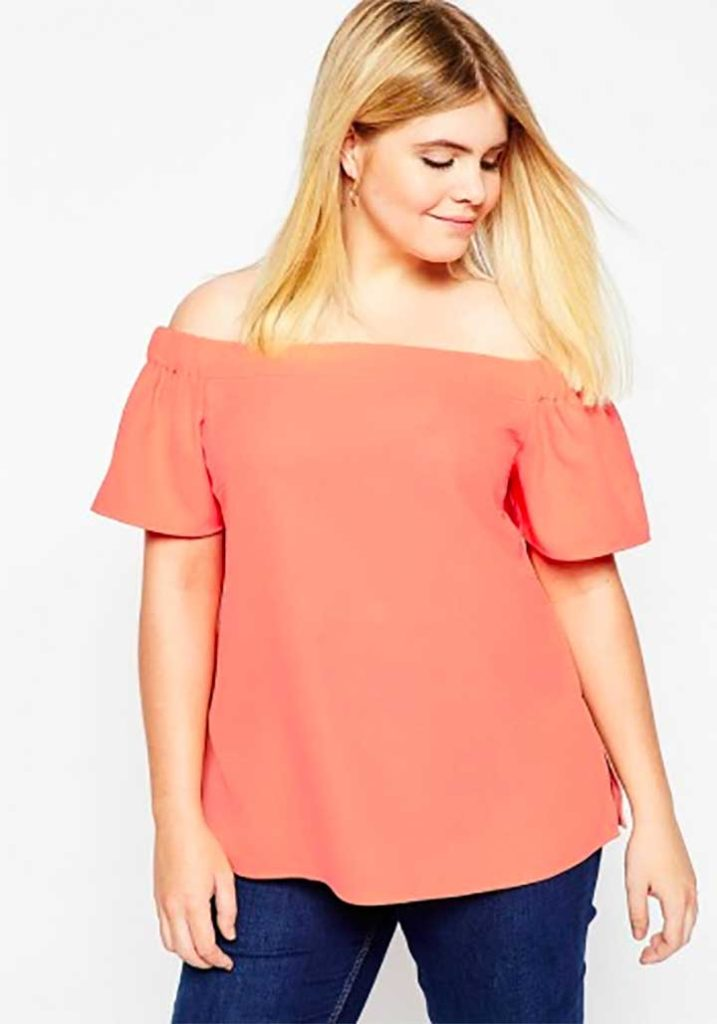 10 Pretty And Plus-Size Off-The-Shoulder Tops