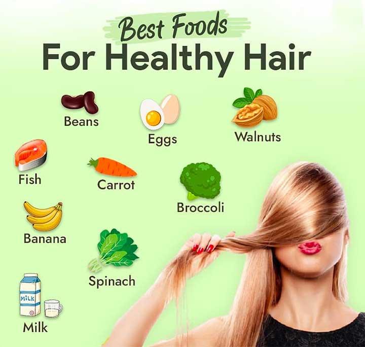Proper nutrition ensures better quality hair