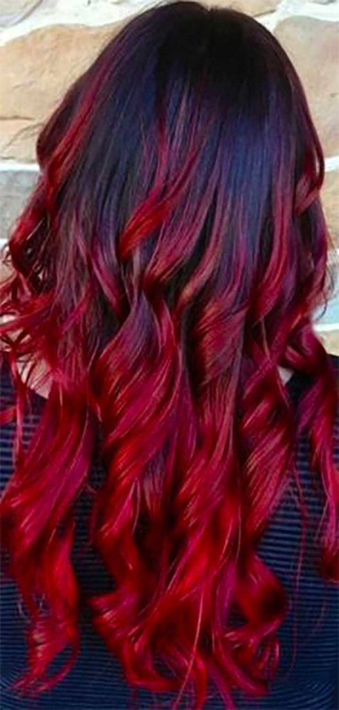 Dip Dyed Photos - Red Ends