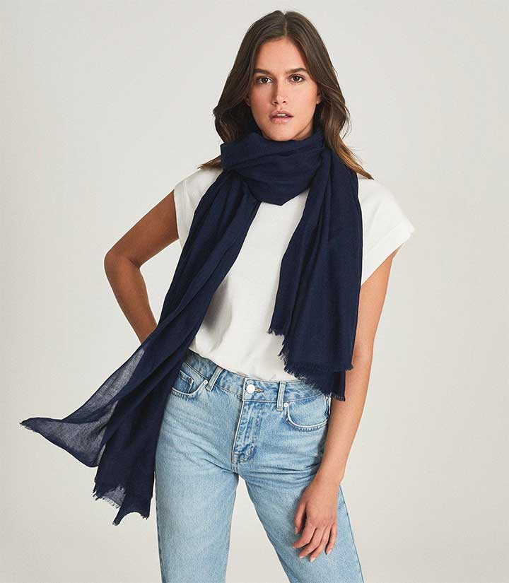 Reiss Betty Scarf - womens lightweight scarves