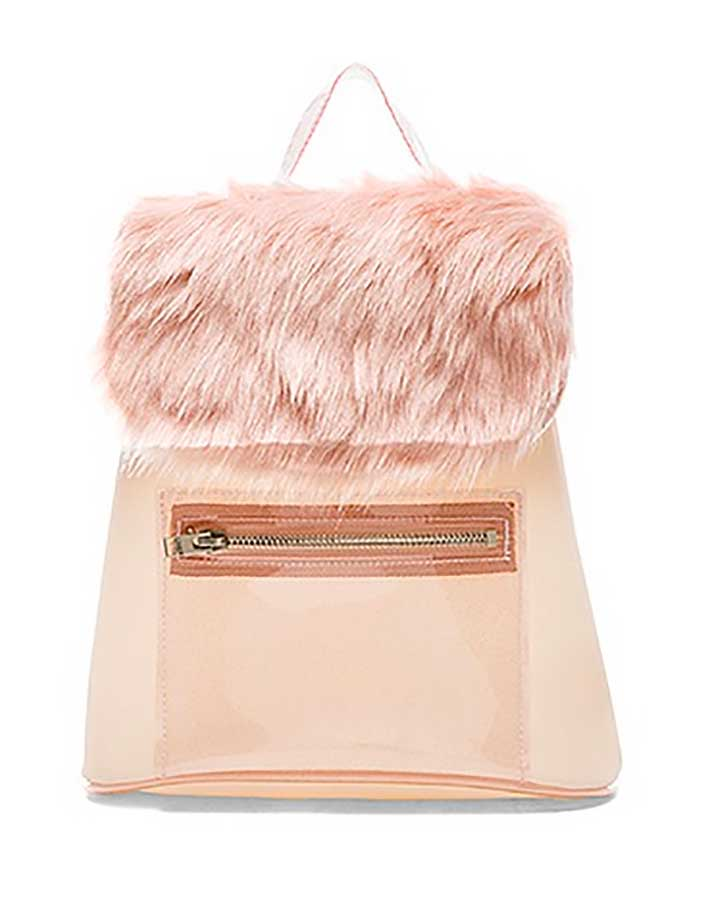 Revolve Clothing UNIF Faux Fur Backpack