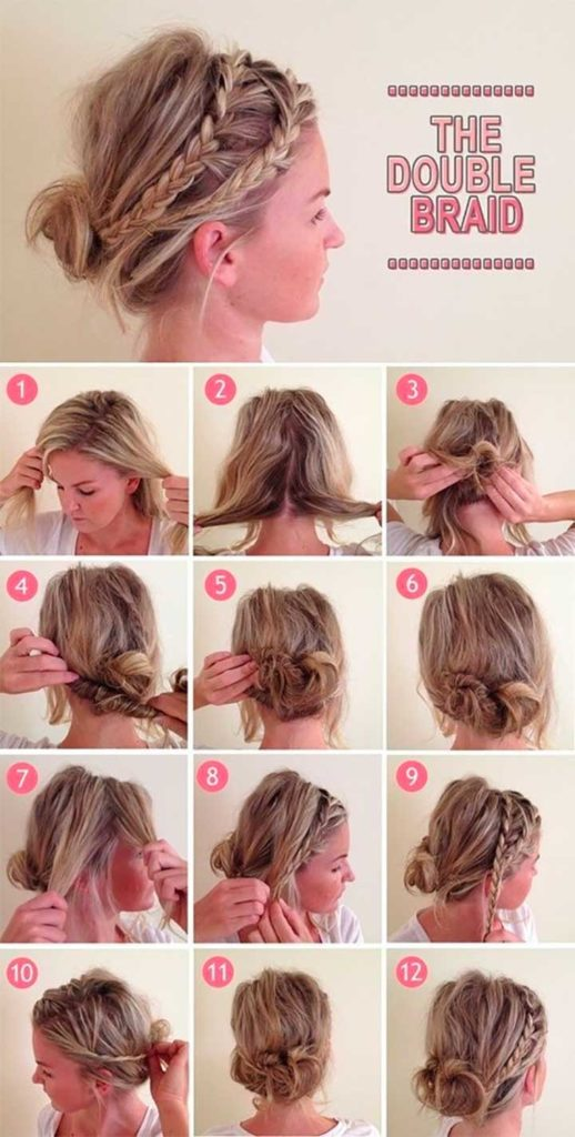 Second-Day Double Braid