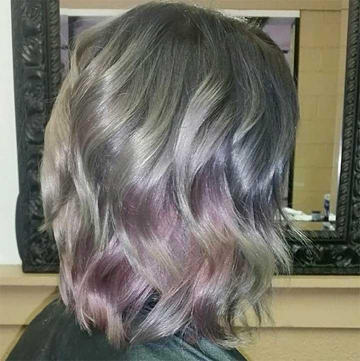 Silver Opal Hair Color