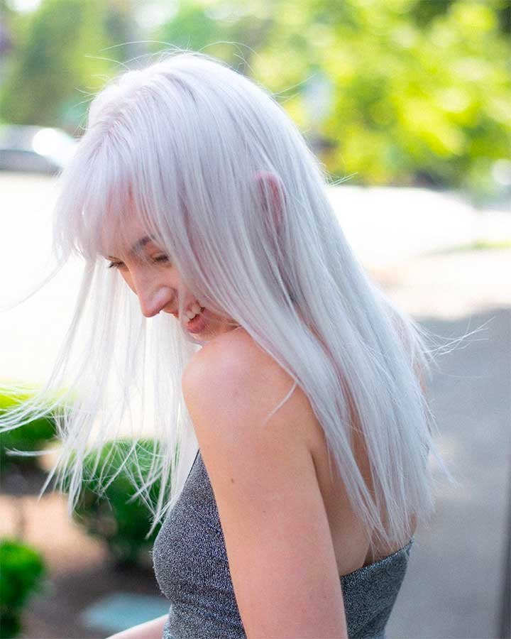 Soft White Blonde Hair