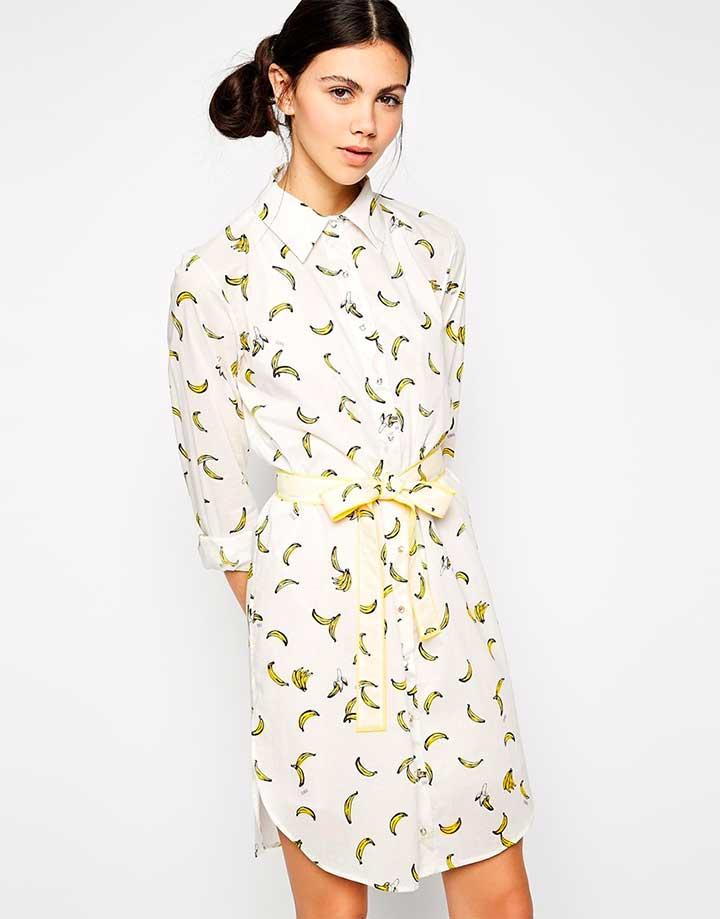 Sonia Rykiel shirt dress in banana print