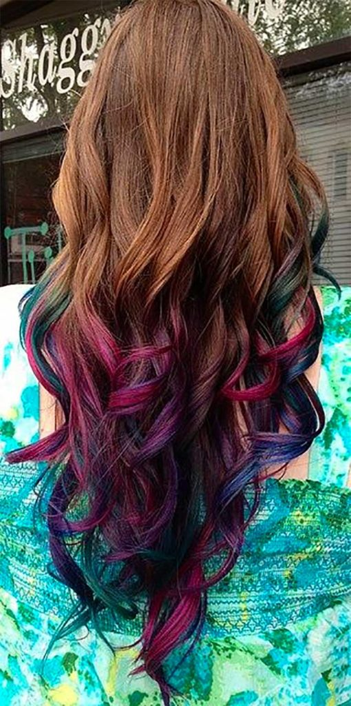 Subtle Pink Purple And Blue Ends
