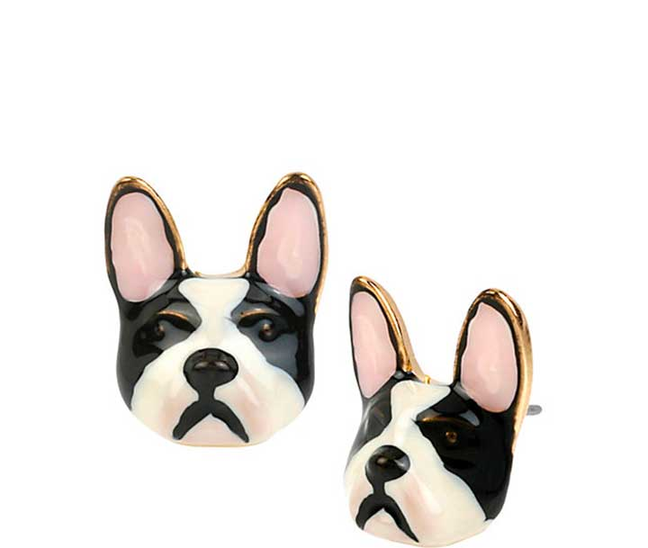 Sugar Critters Black And White Dog Studs