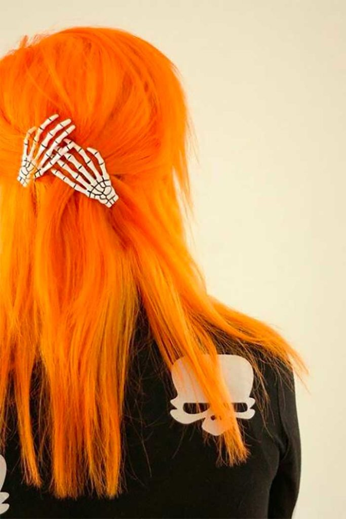 Tangerine hair color