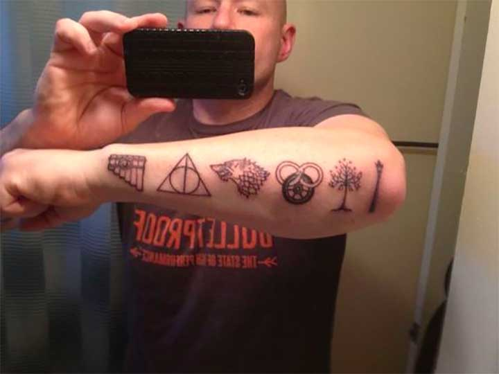 The Lion: This Tattoo Features Some Greatest Hits Of Fantasy Literature