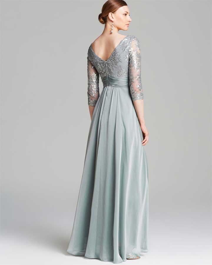 Adrianna Papell V-Neck Sequin Bodice Dress