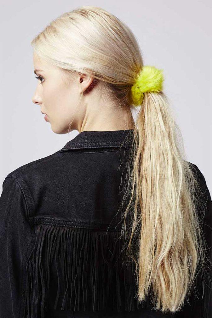 Topshop Faux Fur Pom Pom Hair Tie