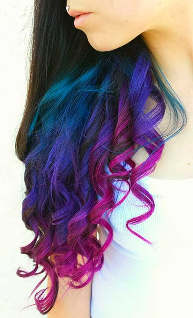 Turquoise, Blue And Purple Ends