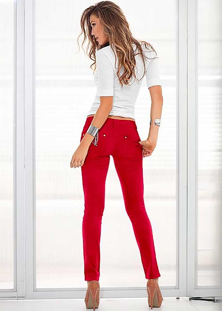 Violeta Super Slim-Fit Colcci Jeans red