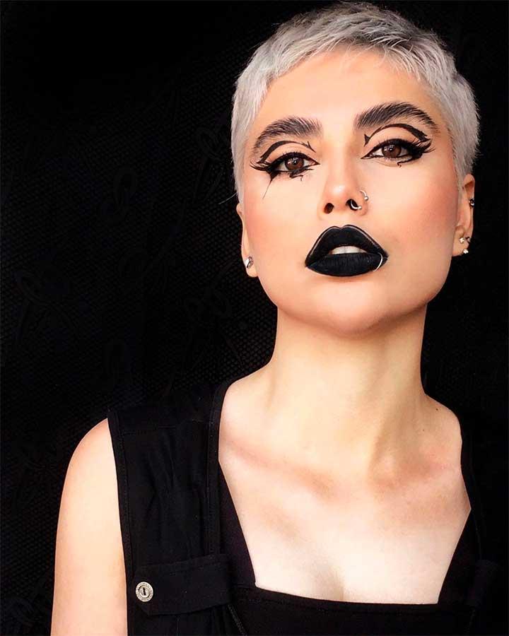 What does black lipstick symbolize?