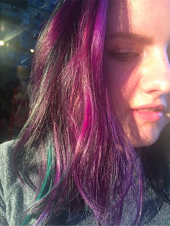 What is an oil slick for hair?